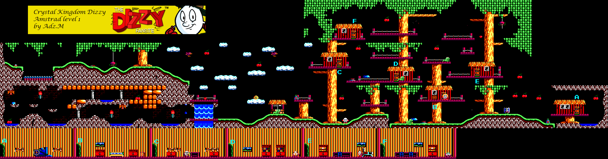 Level 1 Game map (Amstrad)