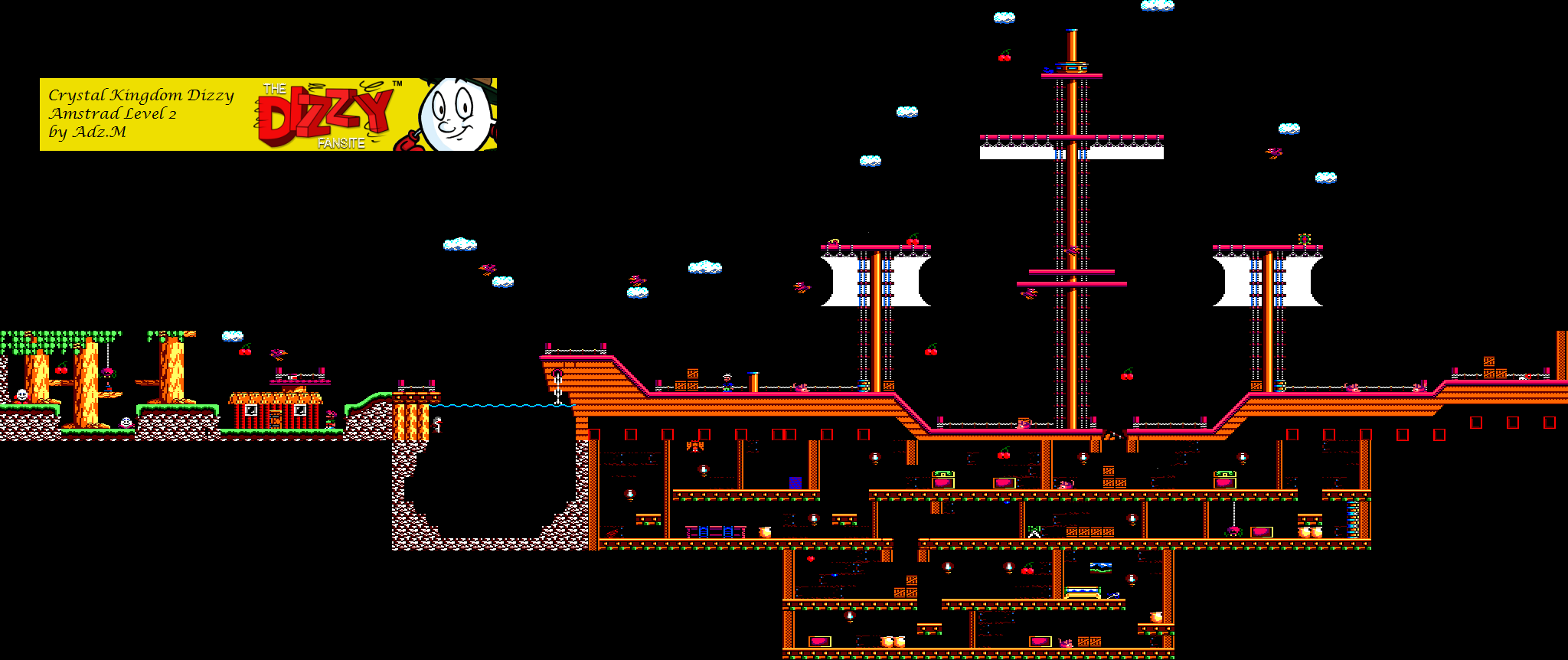 Level 2 Game map (Amstrad)