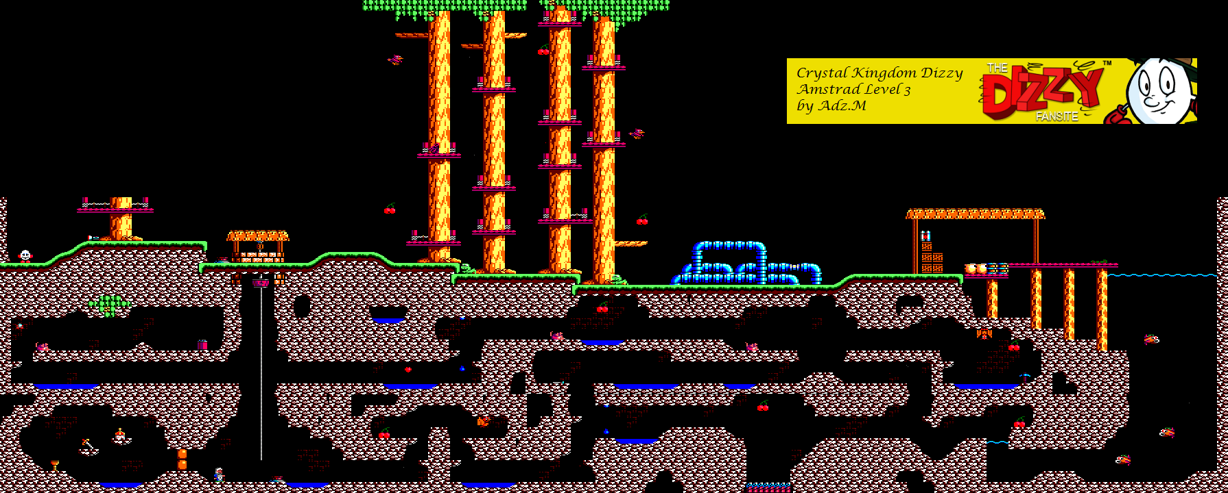 Level 3 Game map (Amstrad)