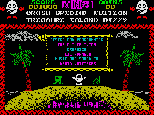 Treasure Island Dizzy: Crash Special Edition